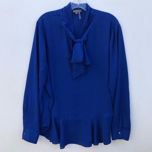 Vince Camuto Peplum Bow Neck Blouse #1188